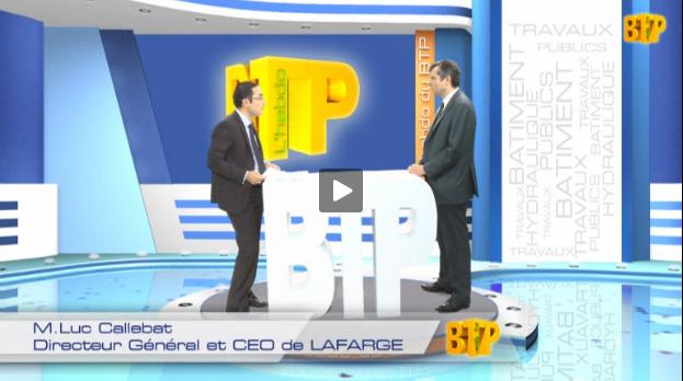 M.Luc Callebat, Directeur Général et CEO de LAFARGE